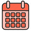 calendar, date, schedule, table icon