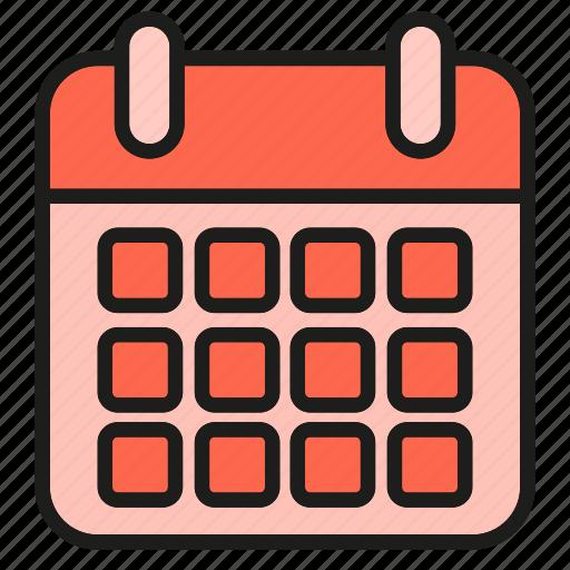 calendar, date, schedule, table icon