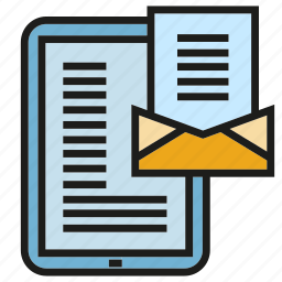 contact, envelope, letter, mobile, phone icon