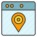 gps, location, map, navigation, pin, pointer, web icon
