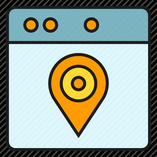 gps, location, map, navigation, pin, pointer, web icon