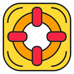 float, lifebuoy, safe, soar icon