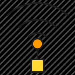 communication, internet, network, pole, signal, wifi icon