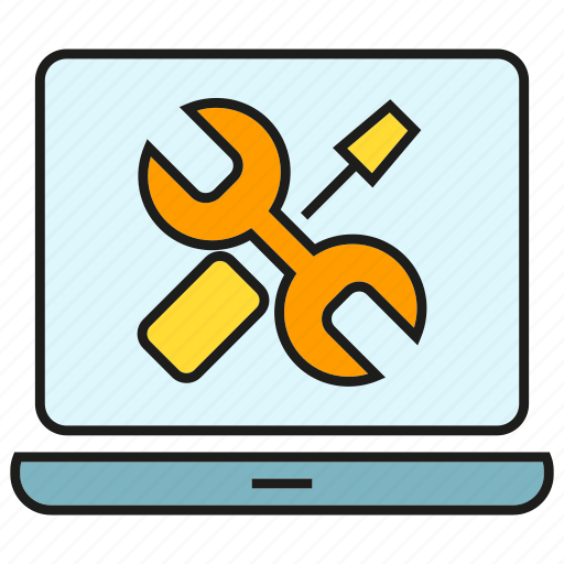 computer, fix, repair, service, setting, support, tool icon