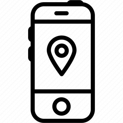 call, device, iphone, location, mobile, pin, smartphone icon