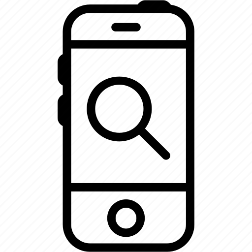 call, device, iphone, mobile, search, smartphone, technology icon