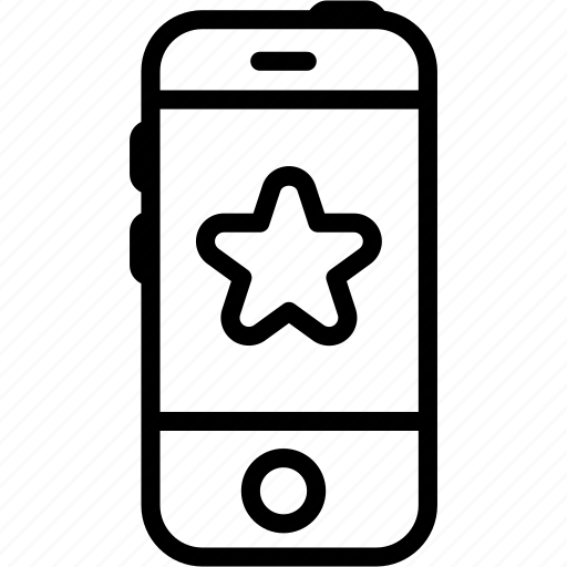 call, favorite, iphone, mobile, smartphone, star, telephone icon