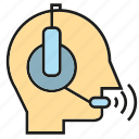 call center, communicate, headphone, operator, service, support, talk icon