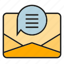 communicate, contact, email, letter, message icon