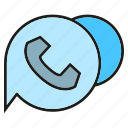 bubble, communicate, contact, phone, speech bubble, talk icon