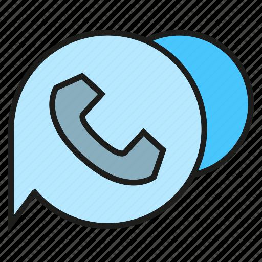bubble, communicate, contact, phone, speech bubble, talk icon