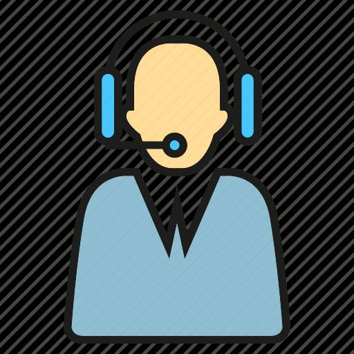 call center, chat, customer service, headhone, operator, people, talk icon