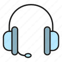 chat, device, electronic, gadger, headphone, sound, talk icon