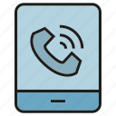communicate, mobile, phone, ring, talk icon
