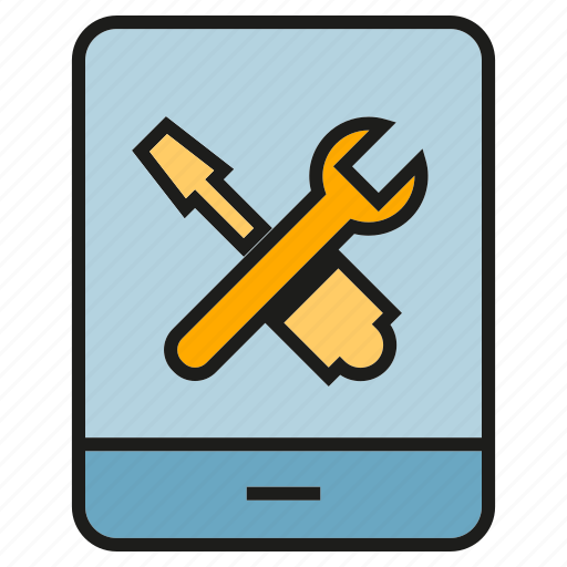 fix, mobile, phone, repair, screwdriver, setting, wrench icon
