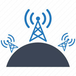 communication, connection, contact, internet, network, radio, station icon