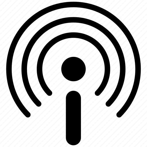broadcast, communication, connection, contact, mobile, multimedia, network icon
