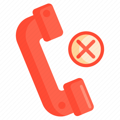 blacklisted, blocked call, call cancelled, call rejected, rejected call icon
