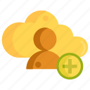 cloud, cloud contact, contact icon