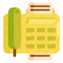 fascimile, fax, fax machine icon