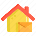 home, home message, message, voicemail icon