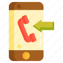 call, calling, incoming, incoming call, phone call, smartphone icon