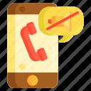call, mute, mute call icon