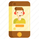 customer service, customer support, help, live chat, online icon
