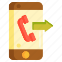 call forwarding, calling, outgoing call, phone call icon