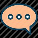 contact, message, chat, communication, bubble