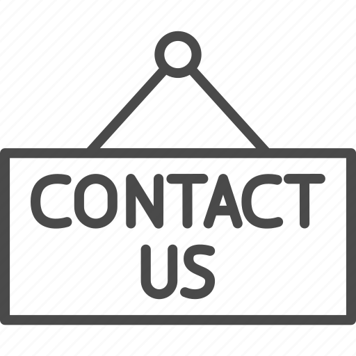 board, contact, contact us, customer, mark, sign, support icon