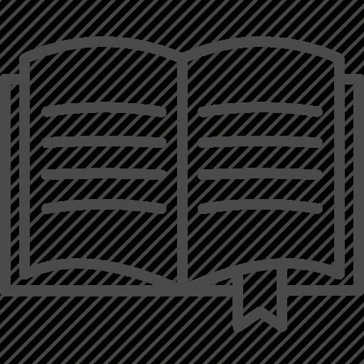 book, bookmark, education, library, read, tag, web icon