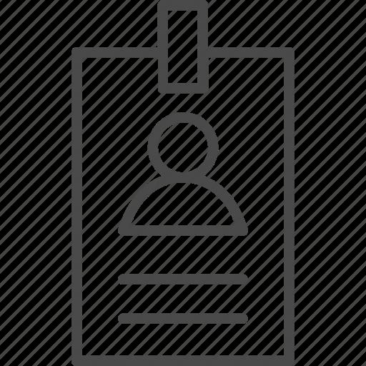 badge, card, id, identification, identity, idly, user icon