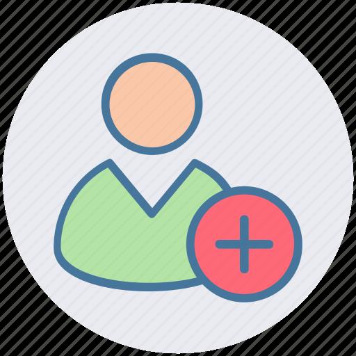 add, employee, human, man, people, plus, user icon