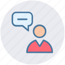 chat, chatting, conversion, message, support, user icon