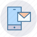 email, envelope, internet, letter, mobile, postcard icon