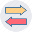 arrows, double, left, left arrow, right, right arrow icon