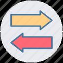 arrows, double, left, left arrow, right, right arrow icon