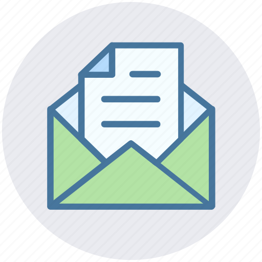 email, envelope, file, letter, message, open, open envelope icon