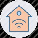 home, hotspot, internet house, wifi service, wifi signal, wireless icon