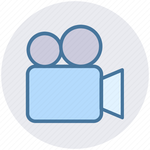 camera, film, media, movie, movie camera, shooting, video camera icon