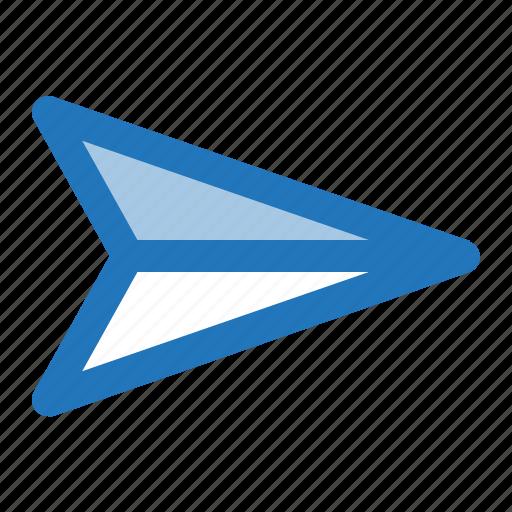 message, paper plane, send icon