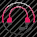 head, headphone, phone icon