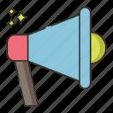 bullhorn, loudspeaker, sound, volume icon