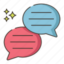 chat, messaging, texting icon