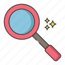 discover, find, inspection, magnifier, magnifying glass, search, zoom icon