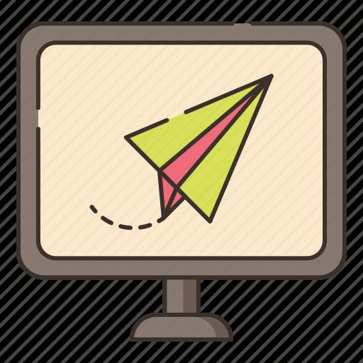 contact, deliver, delivery, send, sending icon