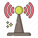 cell tower, network, receiver, signal, transmission icon
