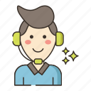 customer service, customer support, helpdesk, live chat, representative, support icon