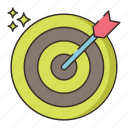 aim, goal, objective, target icon